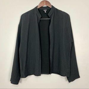 Eileen Fisher Lagenlook Quilted Jacket Open Front